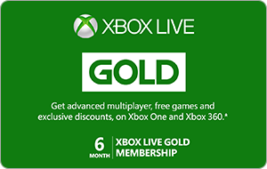Buy AUS Xbox Live Gold | 6 Month Membership Gift Card & Voucher Online with GIFTA