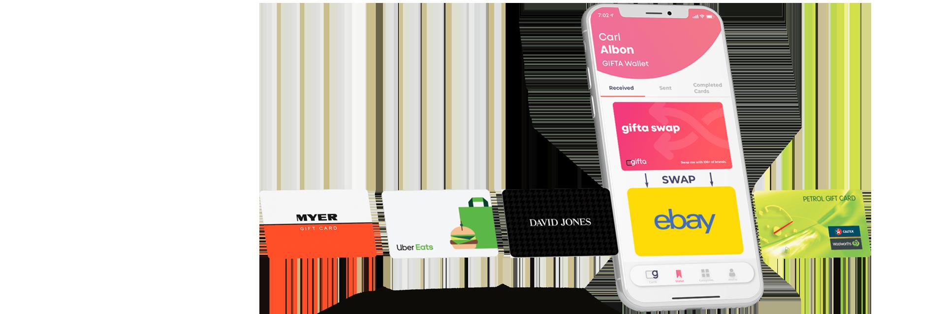 GIFTA Gift Cards Shop - Hundreds of Top Australian Brands